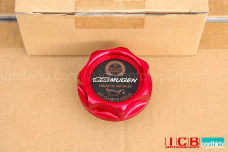 Mugen Oil Cap Gen 2.5  Fits All Hondas/Acuras Red