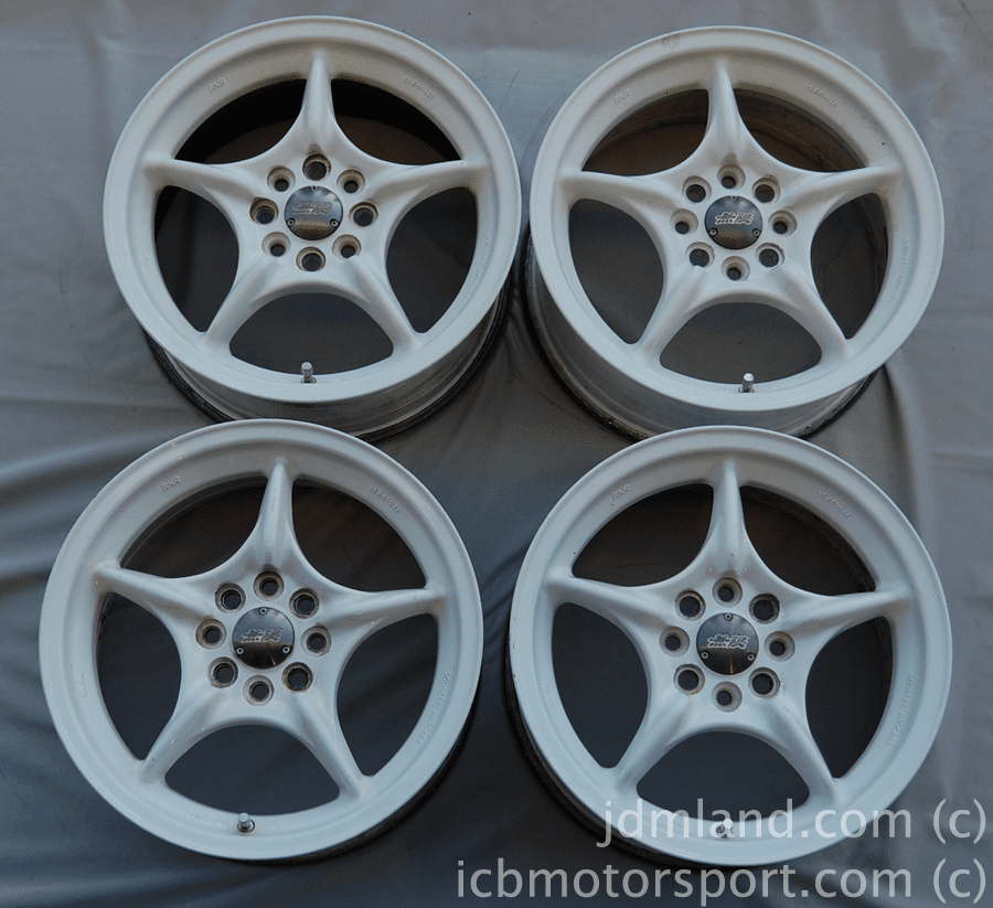MUGEN WEAPON RNR (WHITE) 15x6.5 +45 4X100 Sold