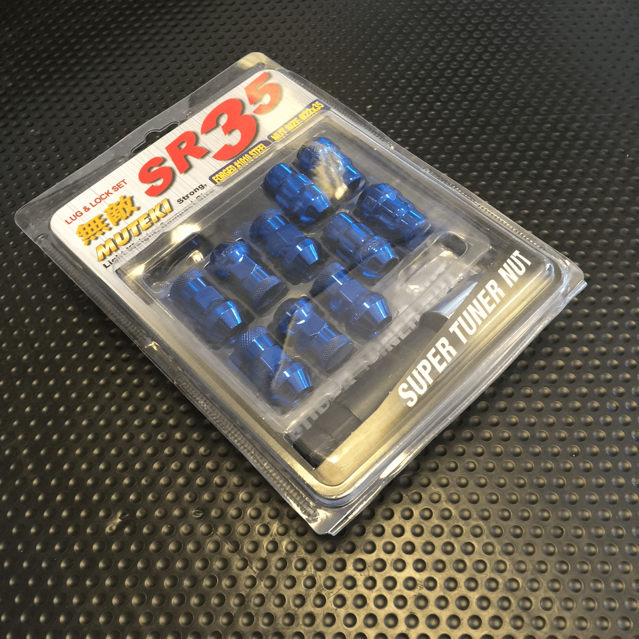 Muteki SR35 Lug Nuts Chrome Blue Closed Ended 32926UP 12x1.50mm FREE SHIPPING