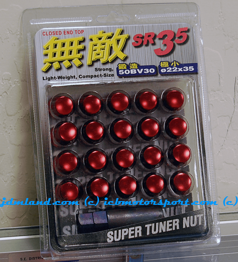 Muteki SR35 Lug Nuts Red Closed Ended 32926R 12x1.50mm FREE SHIPPING
