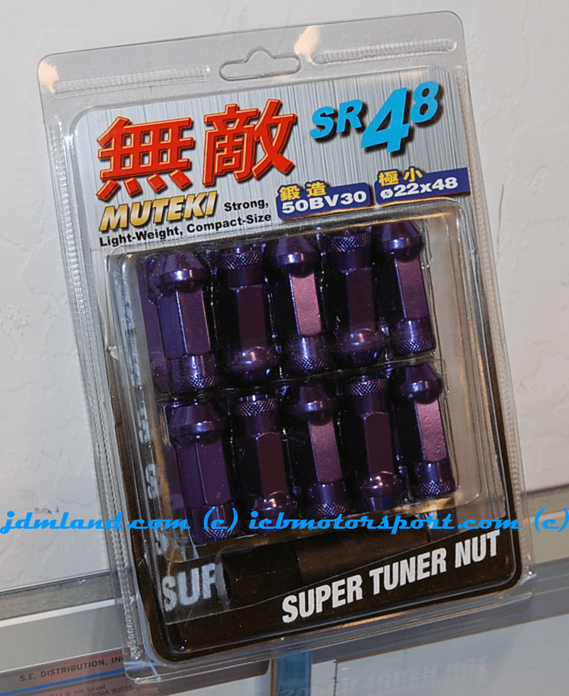 Muteki SR48 Lug Nuts Purple Open Ended 32905L 12x1.50mm FREE SHIPPING