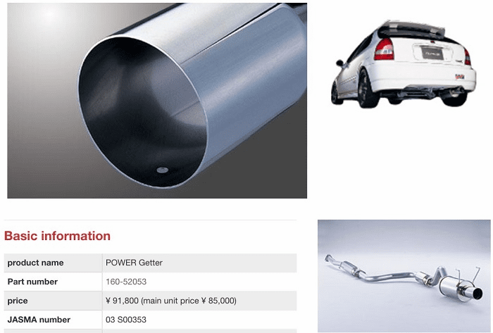 NEW Fujitsubo Stainless Steel Exhaust Cat-Back PowerGetter JDM Civic EK9 B16B 1996-2000 Pre-Order