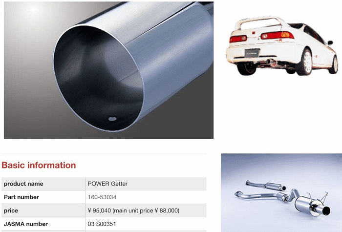 NEW Fujitsubo Stainless Steel Exhaust Cat-Back PowerGetter JDM DC2 Integra ITR 96/98/01 Spec 1994-2001