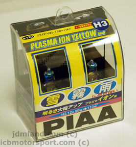 PIAA H3 ION Crystal Yellow Bulbs Set 55W=110W