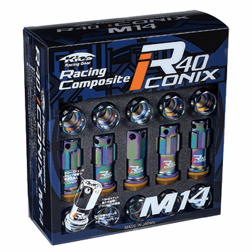 Project Kics R40 ICONIX M14 Lug Nuts & Locks - 14x1.5 In Neo Chrome (Capless) - FREE SHIPPING