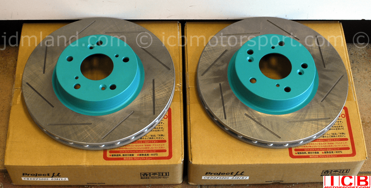 Project Mu CR Club Racer Brake Rotors JDM DC5 Integra Type R w/ Brembos