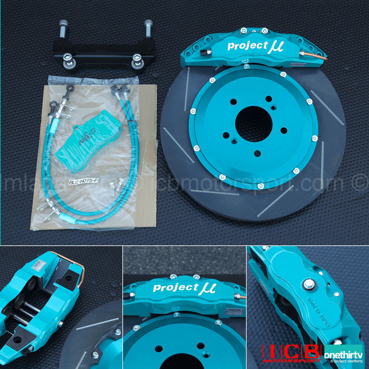 Project Mu Forged Caliper 6-Pot Slim Brake Kit 355mm Rotor Honda S2000 AP1/AP2 PMU-FS6S-H110B