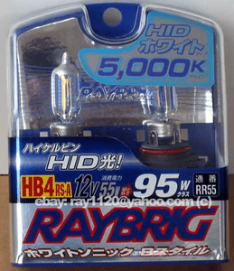Raybrig JDM 9006 WhiteSonic H.I.D. Bulbs RR55 4900K