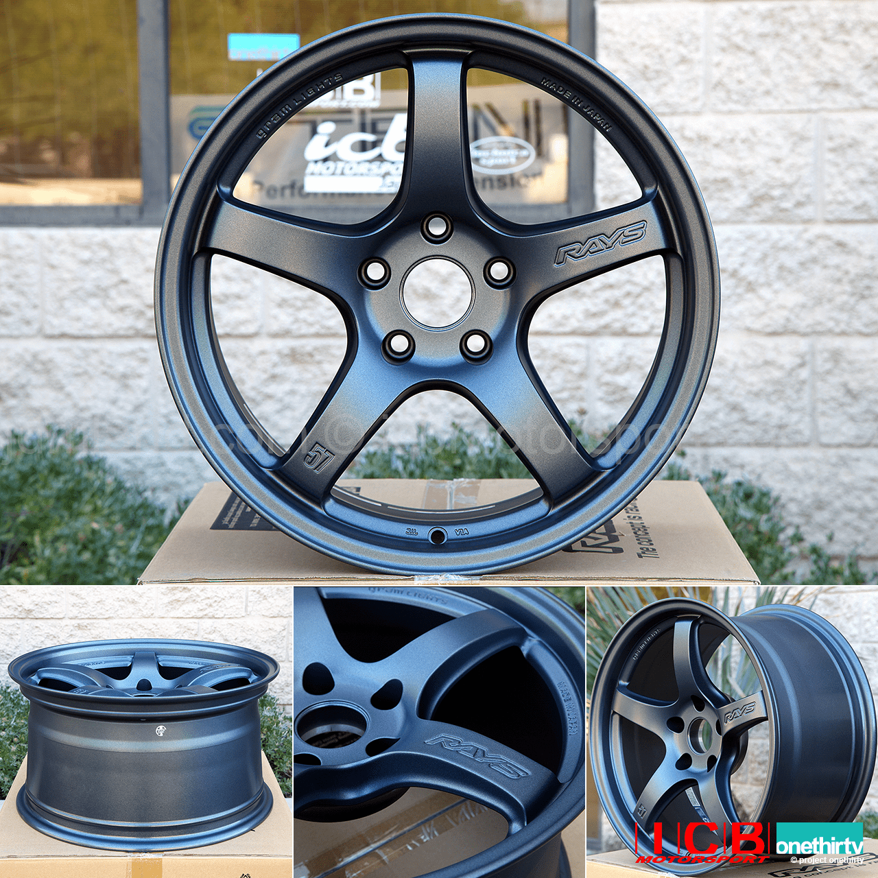 Rays Gram Lights 57CR 18X9.5 5X120 +38 Offset Gun Blue Concave Face FK8 CTR