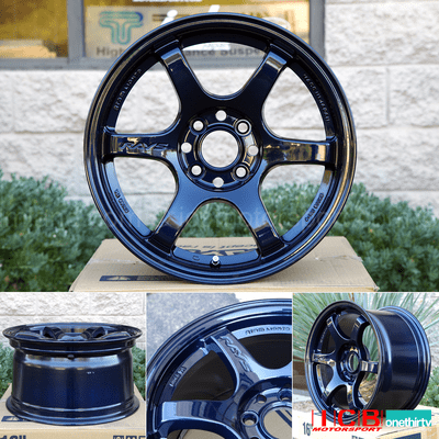 Rays Gram Lights 57DR 15X8 5X1143 or 4X100 +35 Offset Mag Blue Concave Face