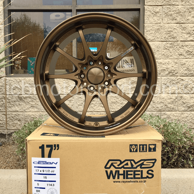 Rays Volk Racing CE28N Bronze 17X9.5 5X114.3 +15 Offset Concave Face