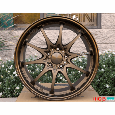 Rays Volk Racing CE28N Bronze Hyper Blue Formula Silver Wheels 18X9.5 +42 Offset 5X120 Concave Face Civic FK8 CTR