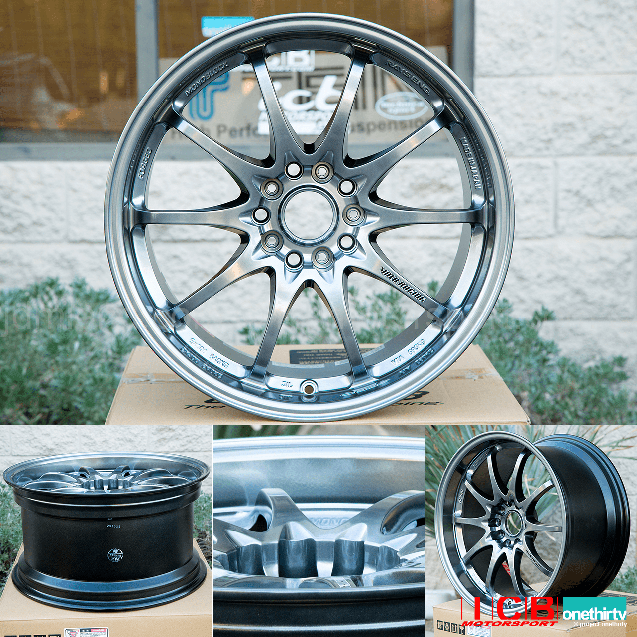 Rays Volk Racing CE28N Bronze Mag Blue Hyper Gold Wheels 18X9.5 +33 Offset 5X120 Concave Face Civic FK8 CTR