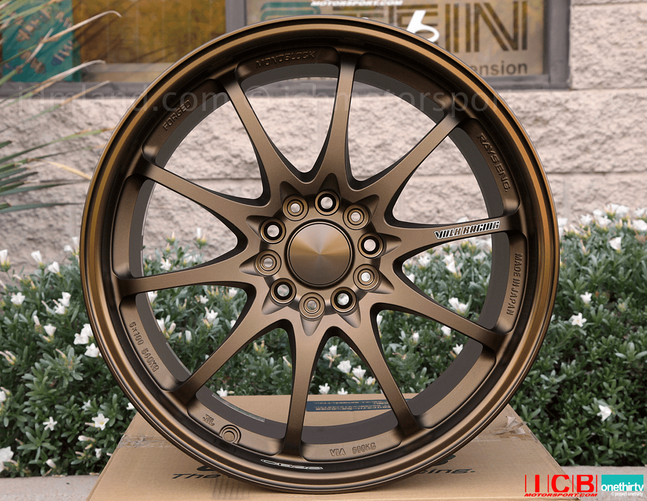 Rays Volk Racing CE28N Bronze Wheels 18X9.5 +33 Offset 5X120 Concave Face Civic FK8 CTR