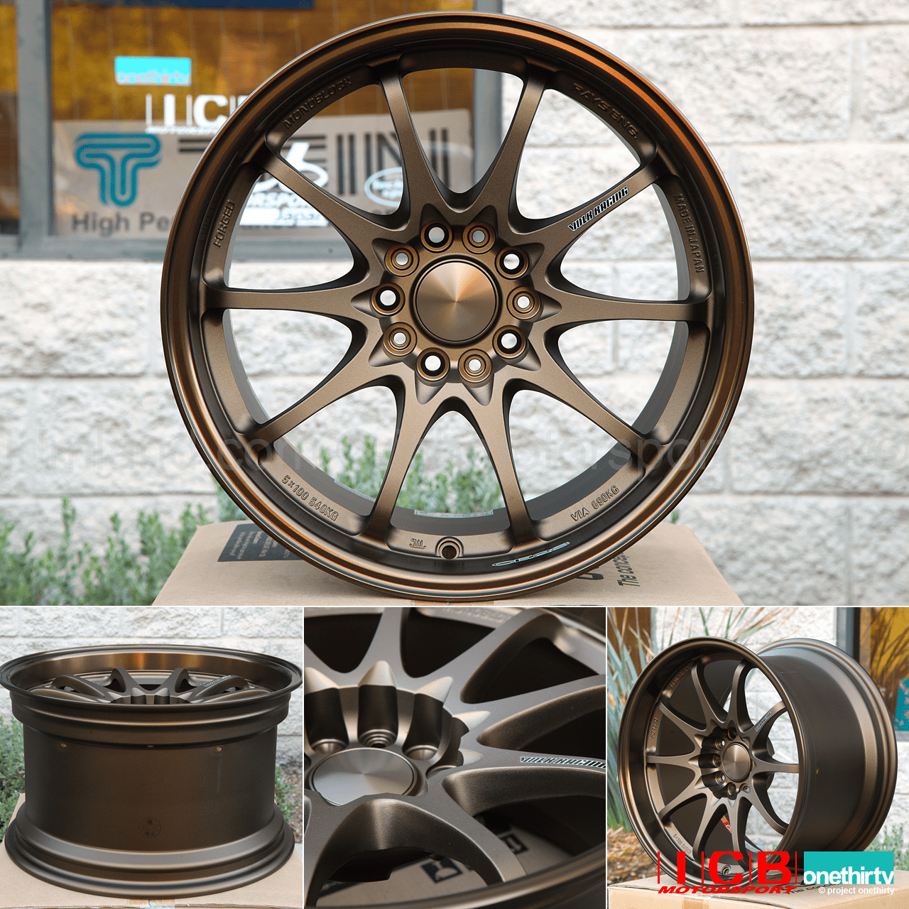 Rays Volk Racing CE28N BRONZE Wheels Set 5X114.3 17X10 +22 Offset Concave Face