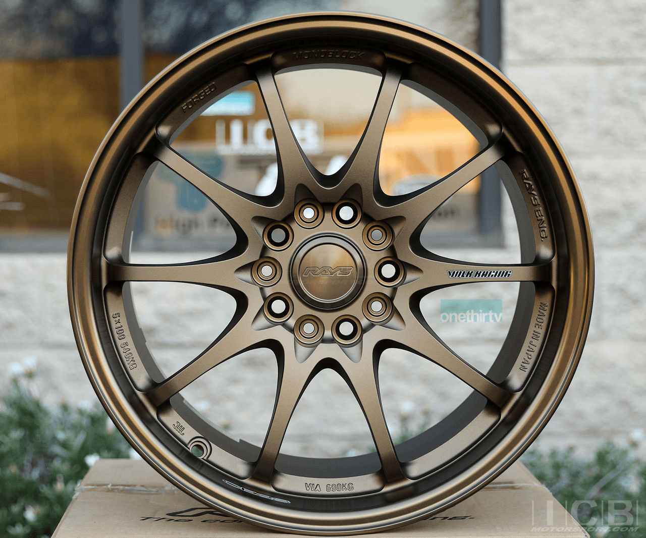 Rays Volk Racing CE28N Bronze Wheels Set 5X114.3 17X10 +50 Offset Concave Face