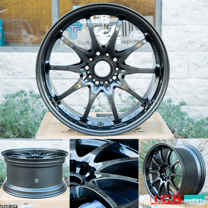 Rays Volk Racing CE28N Diamond Black Wheels 18X9.5 +33 Offset 5X120 Concave Face Civic FK8 CTR Sold Out