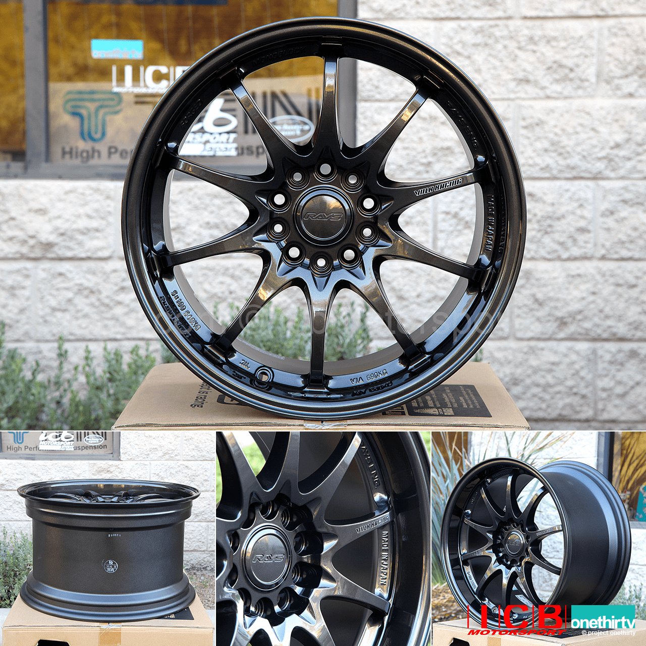 Rays Volk Racing CE28N Diamond Black Wheels Set 5X114.3 17X10 +50 Offset Concave Face BBK