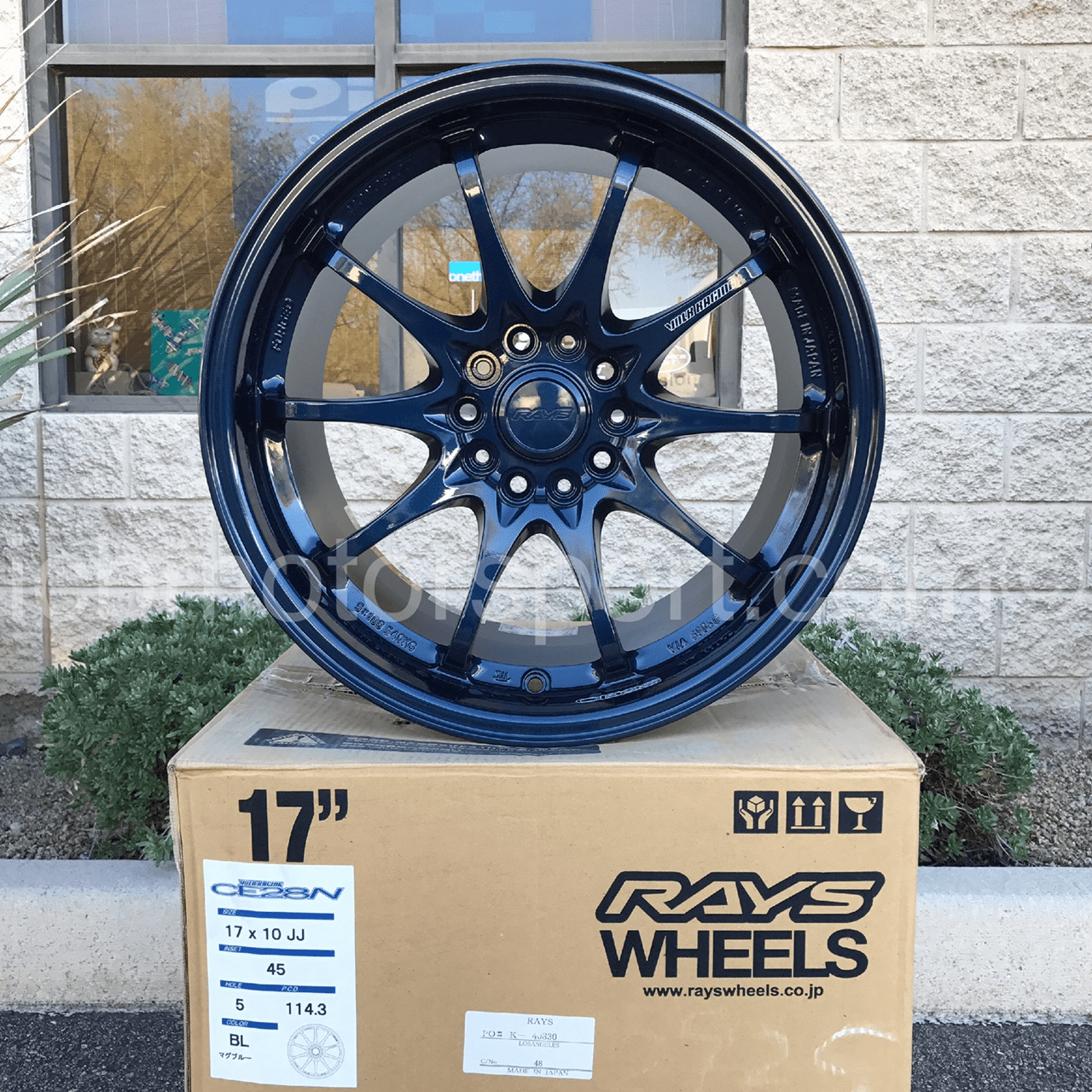 Rays Volk Racing CE28N Mag Blue 17X10 5X114.3 +45 Offset Concave Face Sold