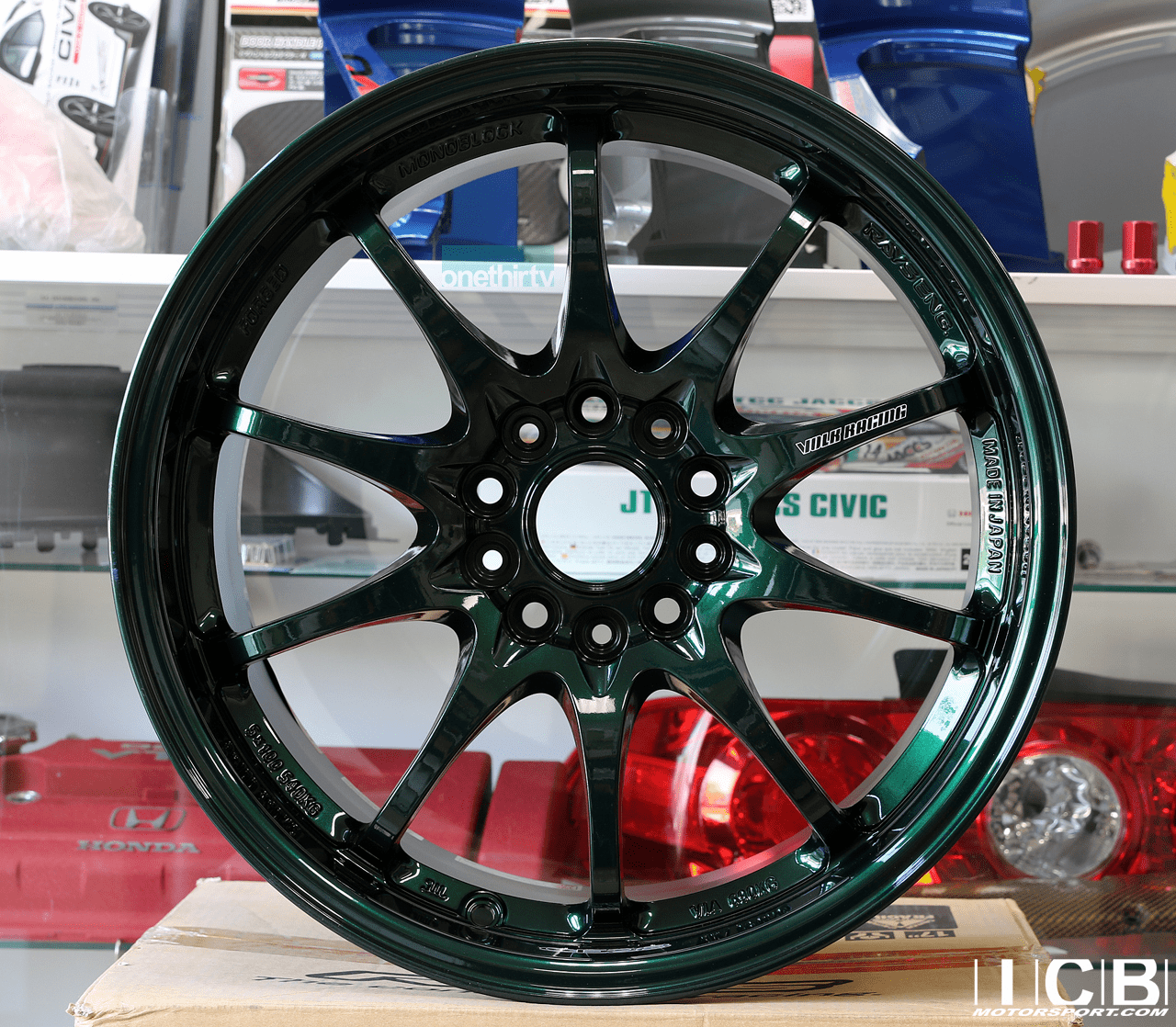 Rays Volk Racing CE28N Racing Green Wheels Set 5X114.3 17X10 +50 Offset Concave Face BBK