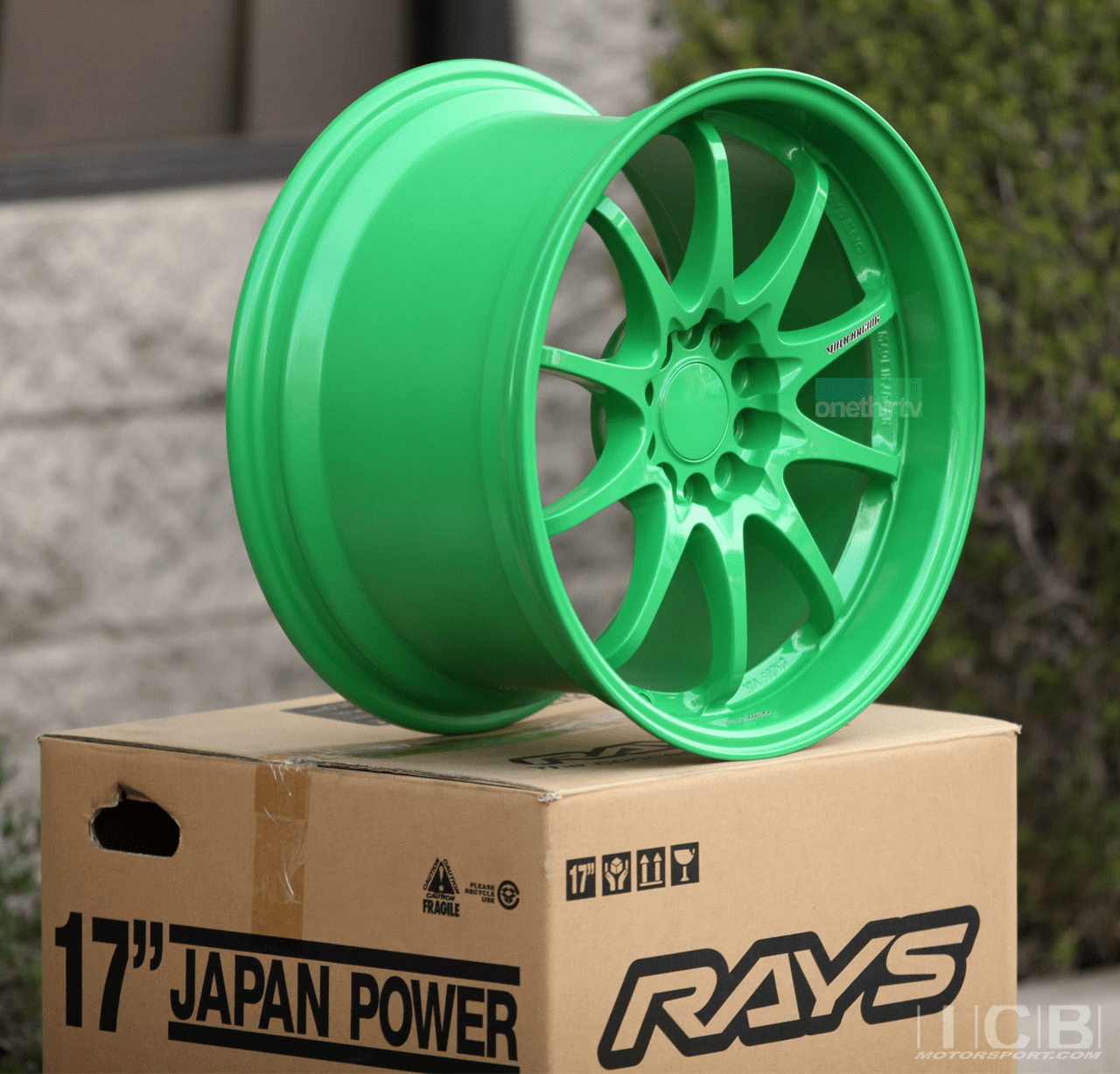 Rays Volk Racing CE28N TAKATA GREEN Wheels Set 5X114.3 17X10 +50 Offset Concave Face BBK