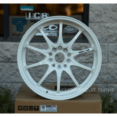 Rays Volk Racing CE28N Time Attack White Wheels 18X9.5 +42 Offset 5X120 Concave Face Civic FK8 CTR