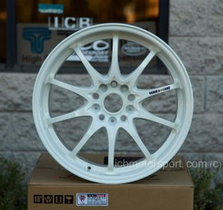 Rays Volk Racing CE28N Time Attack White Wheels 18X9.5 +42 Offset 5X120 Concave Face Civic FK8 CTR Sold Out