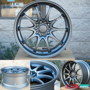 Rays Volk Racing CE28N Titanium Gunmetal Wheels 18X9.5 +42 Offset 5X120 Concave Face Civic FK8 CTR Sold Out
