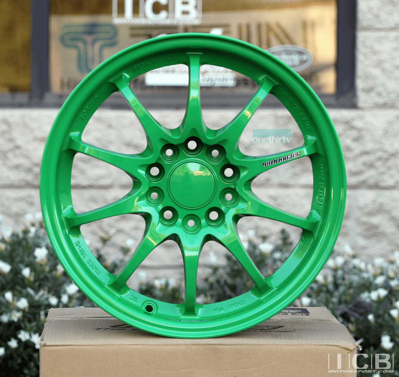 Rays Volk Racing CE28N Wheels 16X7.5 5X114.3 +35 Offset Takata Green