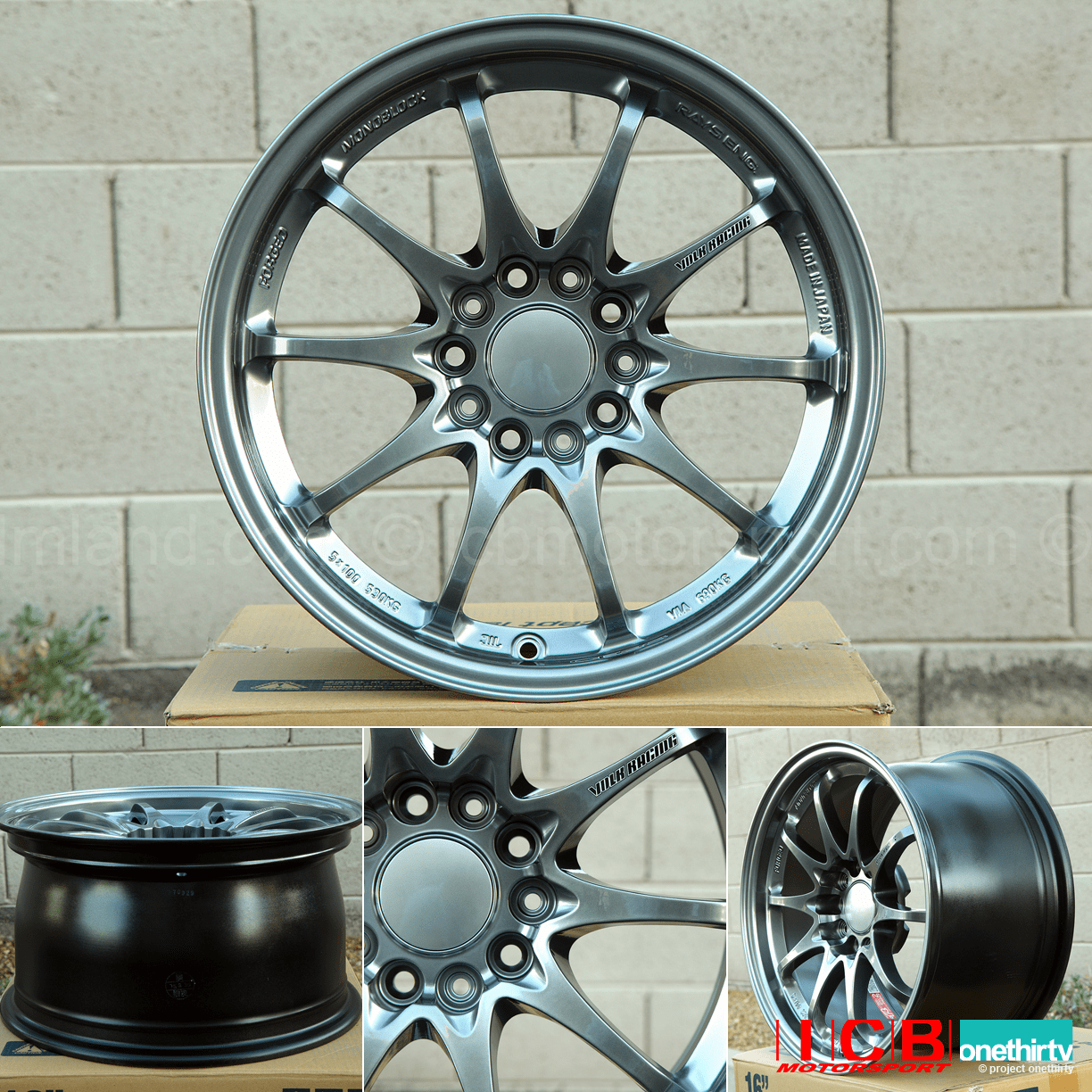 Rays Volk Racing CE28N Wheels 16X8.5 +30 Offset Front 16X8 +28 Offset Rear Formula Silver Concave Sold