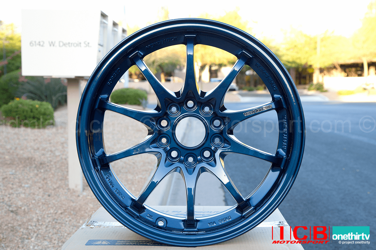 Rays Volk Racing CE28N Wheels 16X8.5 5X114.3 +28 Offset Concave Mag Blue