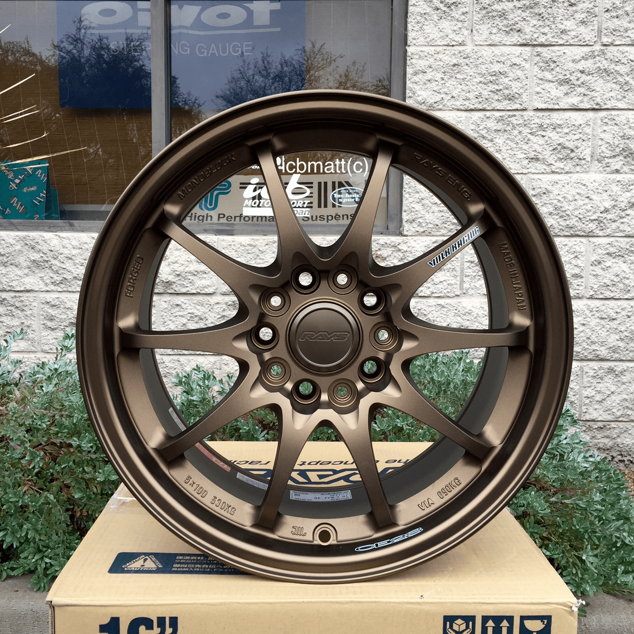 Rays Volk Racing CE28N Wheels 16X8 5X114.3 +35 Offset Bronze Sold Out!