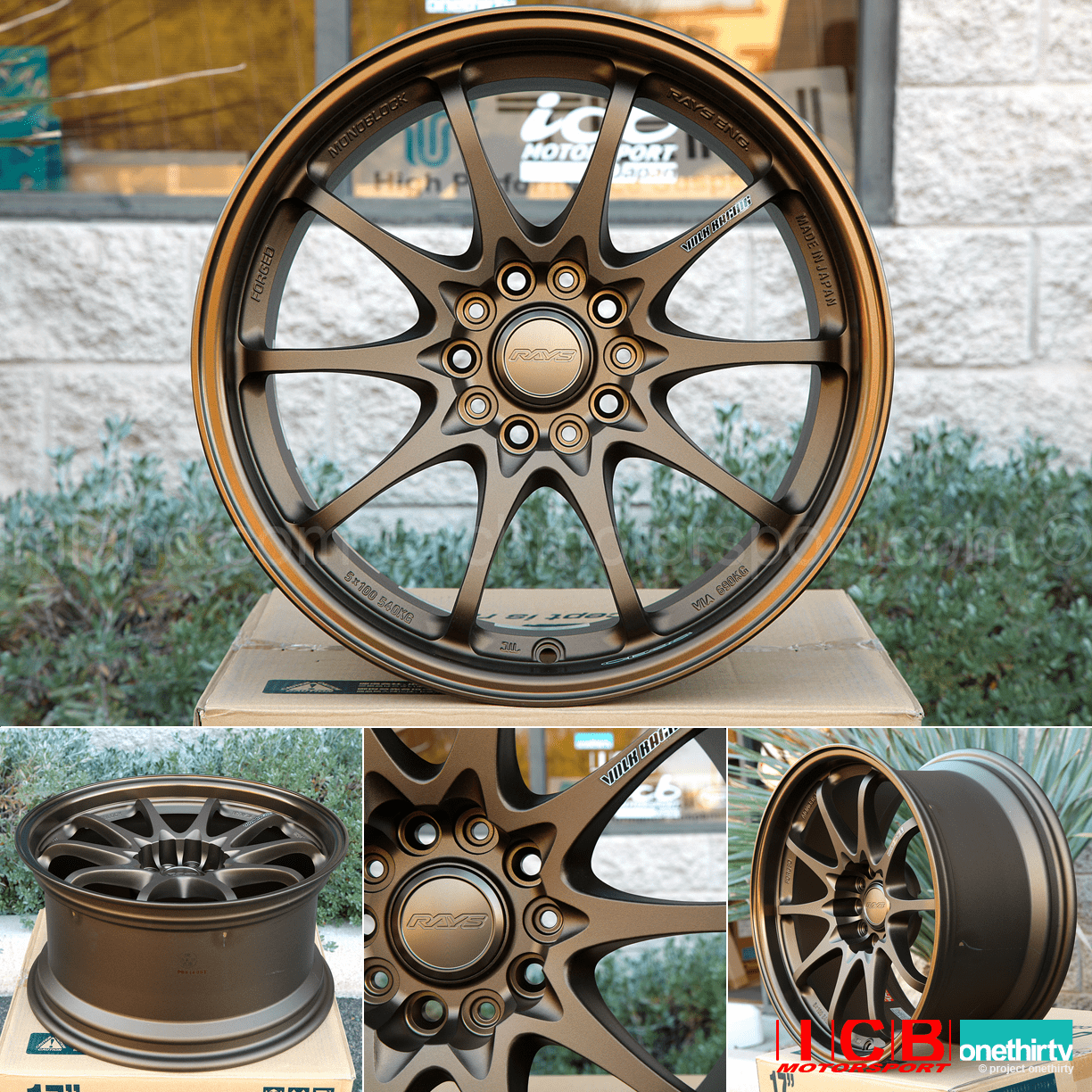 Rays Volk Racing CE28N Wheels 17X9 5X114.3 +22 Offset Concave Face Bronze