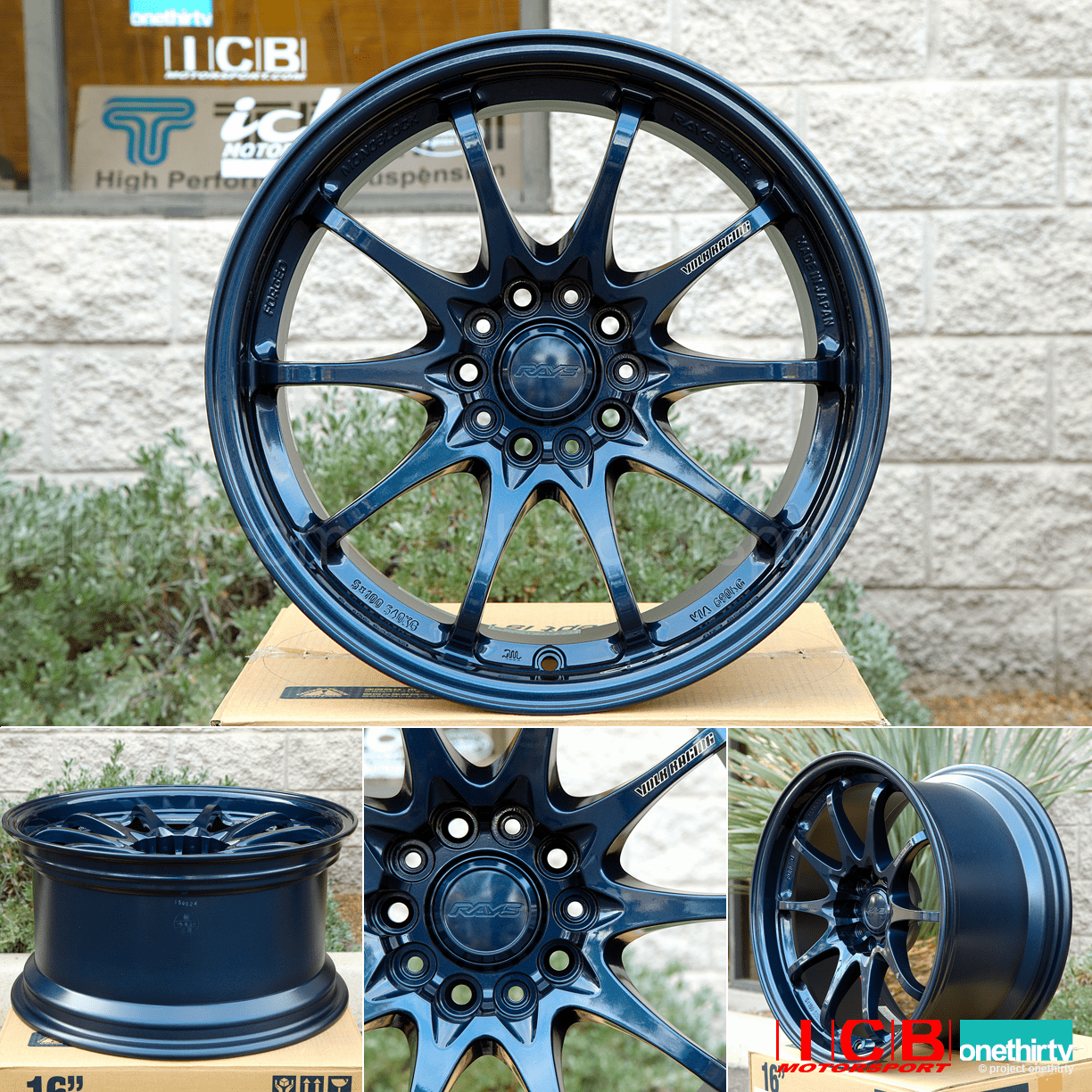 Rays Volk Racing CE28N Wheels 17X9 5X114.3 +22 Offset Concave Face Magnesium Blue