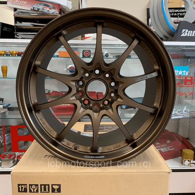Rays Volk Racing CE28N Wheels 17X9 5X114.3 +37 Offset Mild Concave Face Bronze