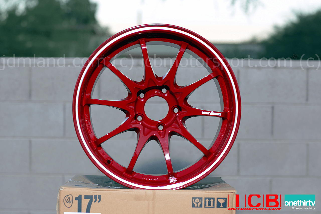 Rays Volk Racing CE28RT Limited Edition Forged Wheels 17X8.5 5X114.3 +40 Offset Burning Red