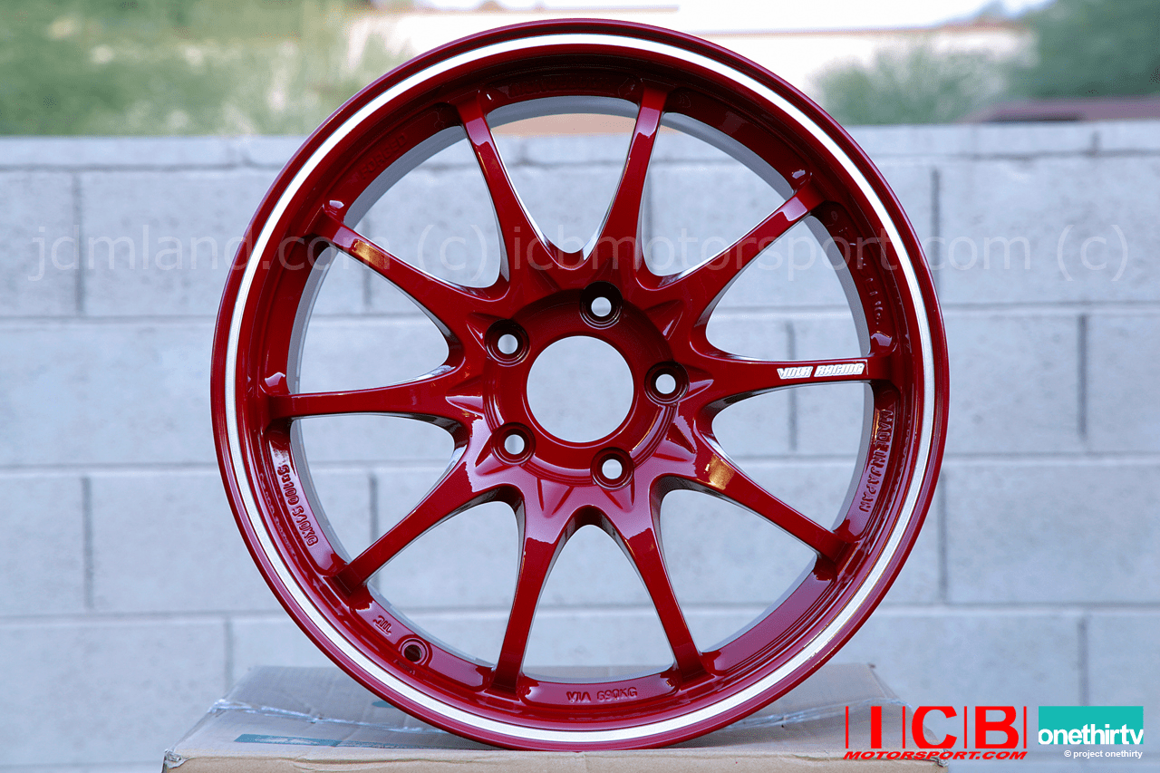 Rays Volk Racing CE28RT Limited Edition Forged Wheels 17X9.5 5X114.3 +23 Offset Burning Red