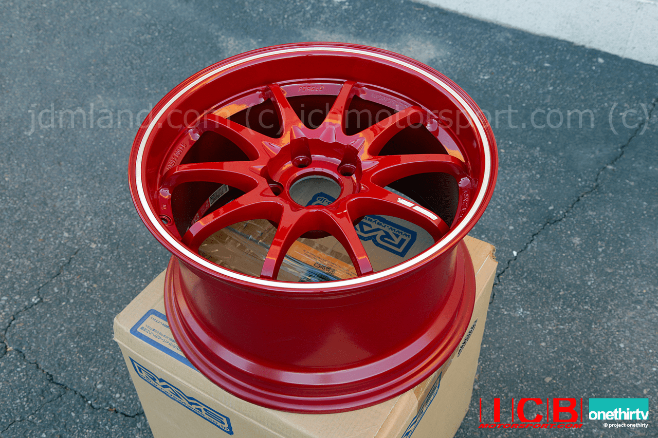 Rays Volk Racing CE28RT Limited Edition Forged Wheels 17X9.5 5X114.3 +39 Offset Burning Red Pending