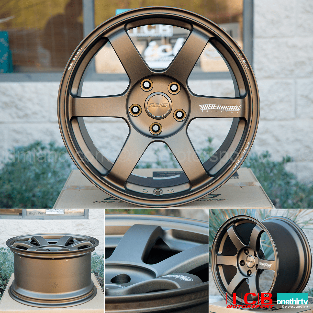 Rays Volk Racing TE37 SAGA Wheels 17X9.5 5X114.3 +38 Offset Concave Face-4 Bronze