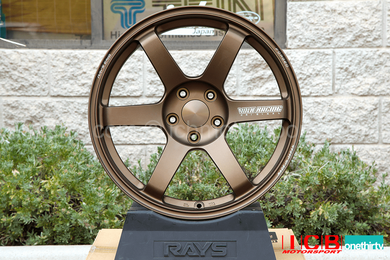 Rays Volk Racing TE37 SAGA Wheels 18X9.5 5X114.3 +22 Offset Concave Face-4 Bronze