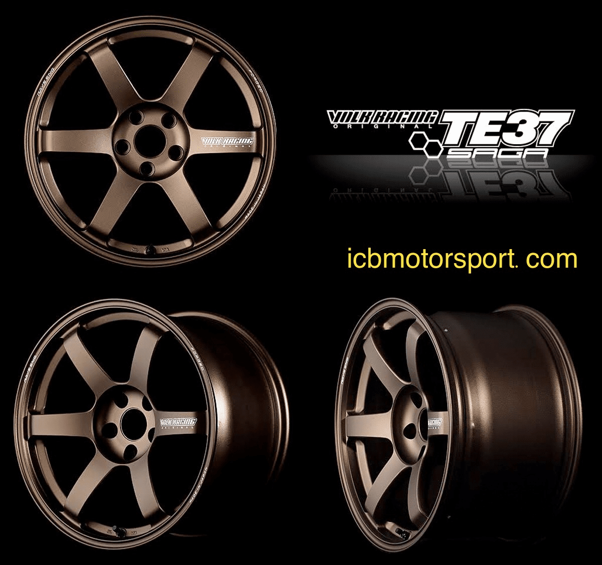 Rays Volk Racing TE37 SAGA Wheels 18X9/9.5/10/10.5 5X120 Bronze/Diamond Dark Gunmetal Civic FK8 CTR Type R Free Shipping Pre-Order