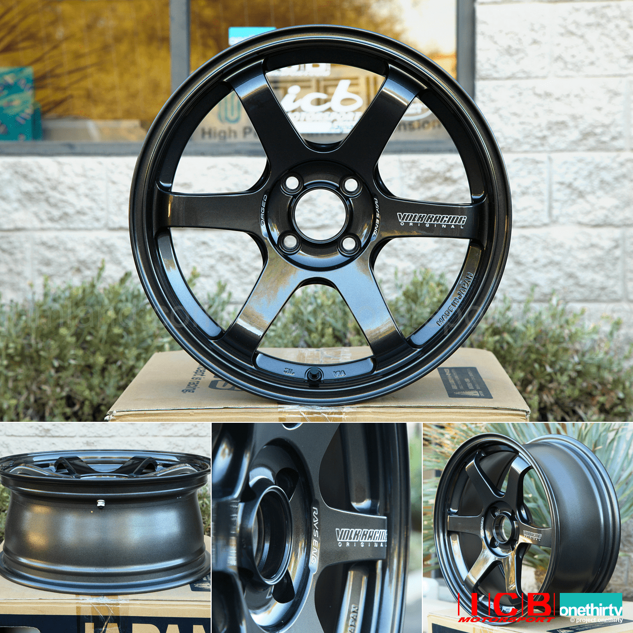 Rays Volk Racing TE37 Sonic Wheels 16X8 4X100 +35 Offset Diamond Dark Gunmetal Pre-Order