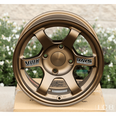 Rays Volk Racing TE37 Wheels 14X7 4X114.3 0 Offset Bronze Concave