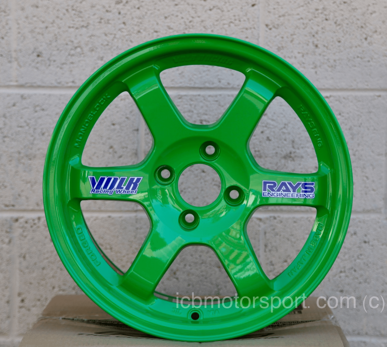 Rays Volk Racing TE37 Wheels 15X8 4X100 +35 Offset Takata Green