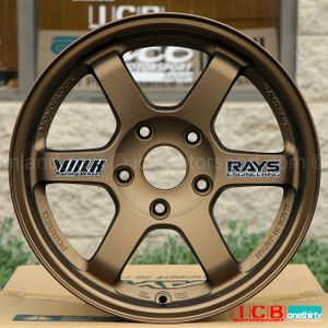 Rays Volk Racing TE37 Wheels 15X8 5X114.3 +35 Offset Bronze