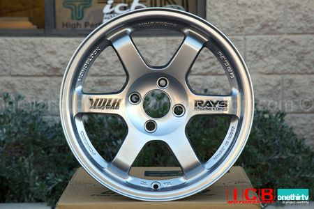 Rays Volk Racing TE37 Wheels 15X8 5X114.3 +35 Offset Mercury Silver