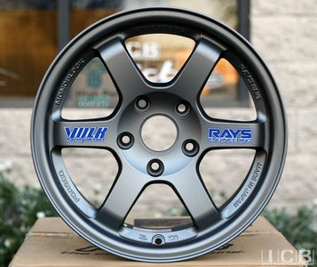 Rays Volk Racing TE37 Wheels 15X8 5X114.3 +35 Offset Titanium Gunmetal