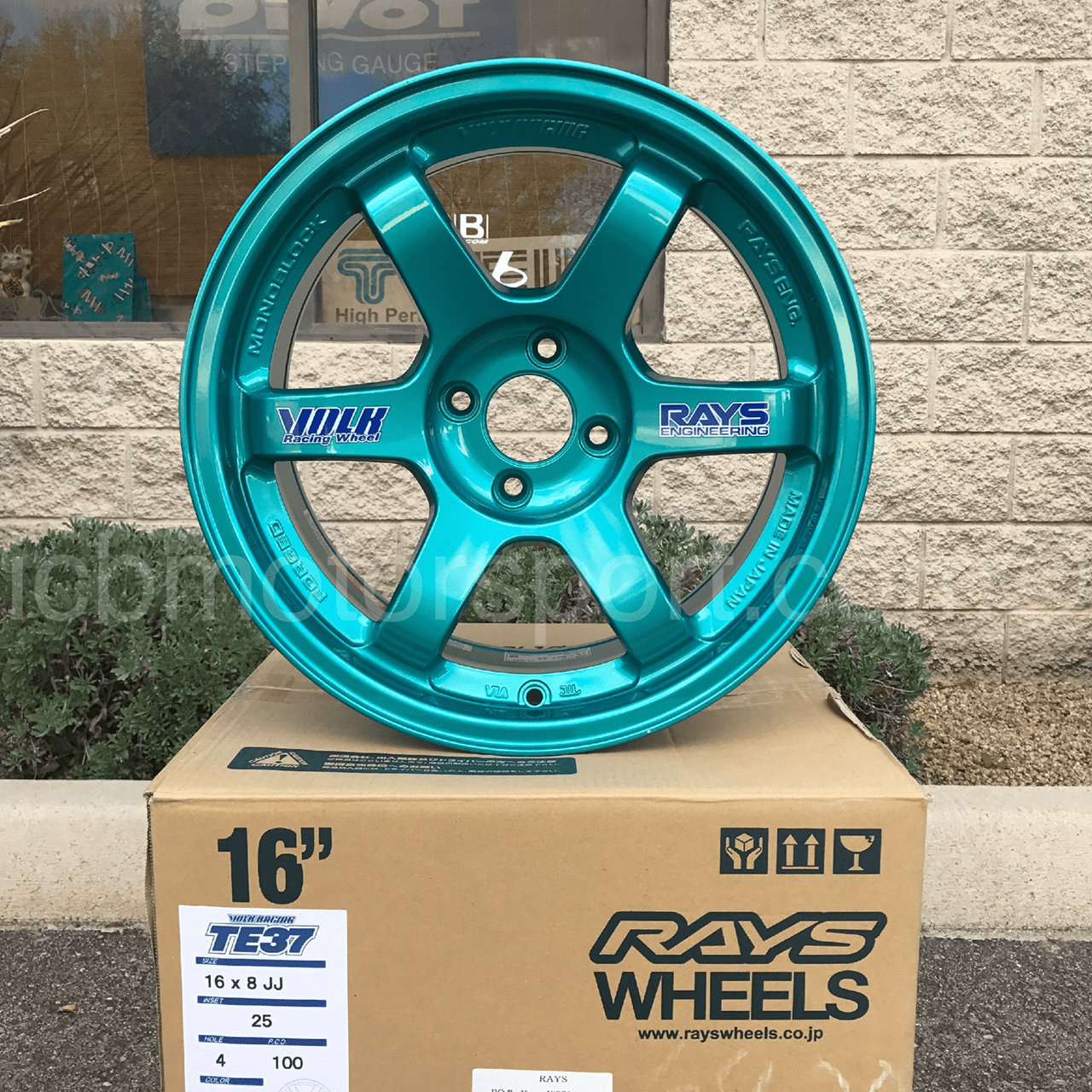 Rays Volk Racing TE37 Wheels 16X8 4X100 +25 Offset Hyper Green Concave Face  SOLD