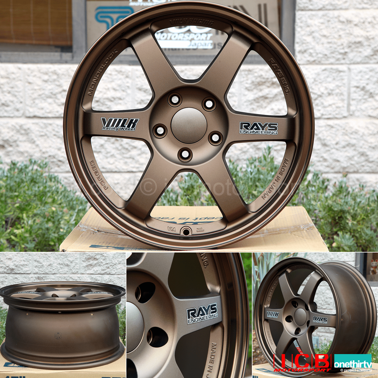 Rays Volk Racing TE37 Wheels 17X8 5X114.3 +38 Offset Bronze FREE SHIPPING
