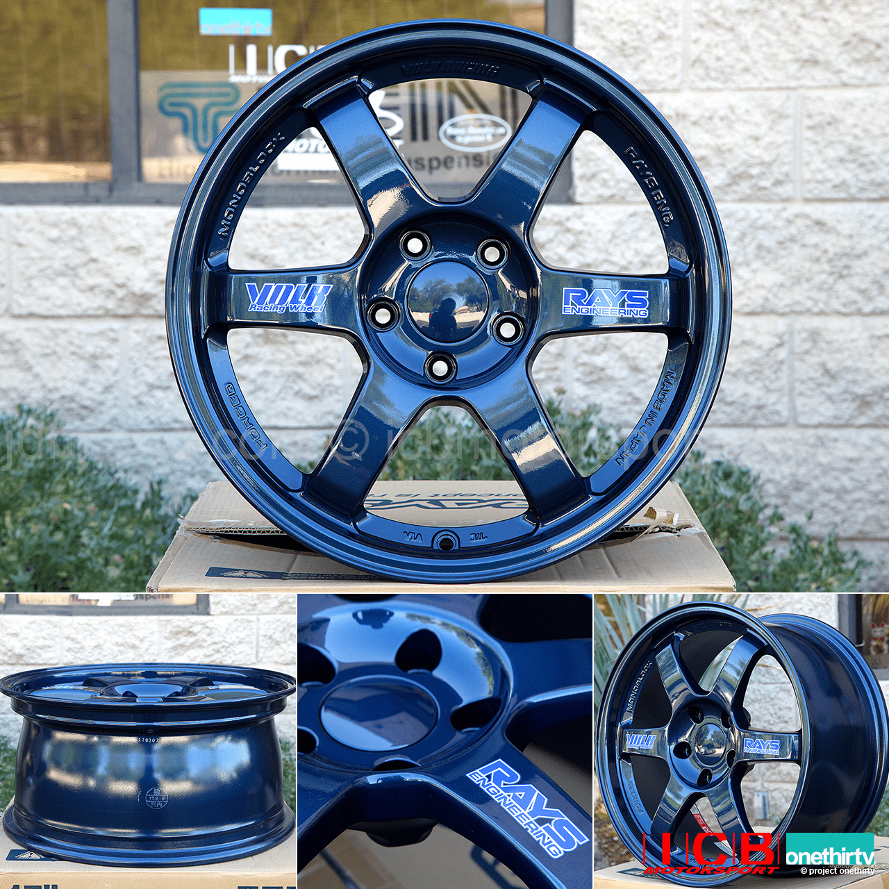 Rays Volk Racing TE37 Wheels 17X8 5X114.3 +38 Offset Magnesium Blue (Mag Blue)